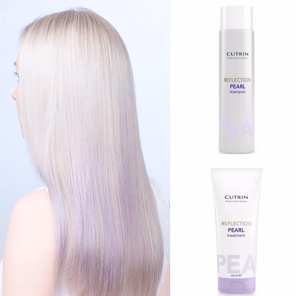 Cutrin Reflection Pearl Shampoo šampūns vēsi blondiem matiem ar nedaudz  lilā 864a054087